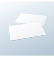 Business cards blank mockup template vector
