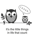 Owl little things vector