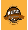 Tankard beer and barrel emblem vector