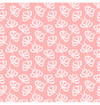 White seamless floral pattern on pink background vector