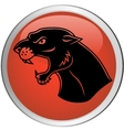 Black panther button vector
