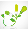 Ecological plant bulb with plug vector