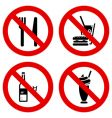 No eating and drinking signs vector