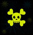Neon skull vector