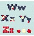 Alphabet shabby chic seamless swatch vector
