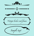 Vintage frames borders text dividers vector