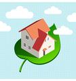 Eco house sky vector