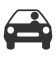 Flat driving icon isolated on white vector