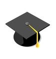 Icon graduation cap vector