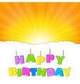 Birthday design vector