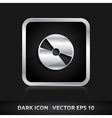 Cd dvd icon silver metal vector