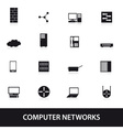 Computer network icons eps10 vector