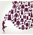 Women s fashion background vector