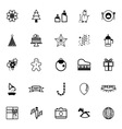 New year and christmas line icons on white vector