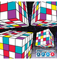 Abstract boxes vector