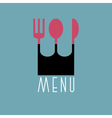 Stylish restaurant menu design in minimal style vector