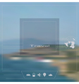 Blurred background theme of travel vector