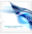 Blue christmas blurred waves and snowflakes vector