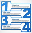 Blue abstract numbered banners vector