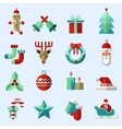 Christmas icons set color vector