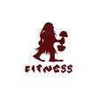 Fitness caveman design template vector