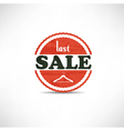 Retro vintage grunge label last sale vector