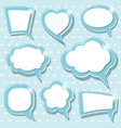 Blue frames vector
