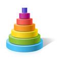 Layered pyramid vector