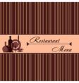 Template of restaurant menu vector