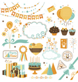 Set of celebration design elements vector