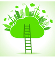 Ecology concept- save nature vector