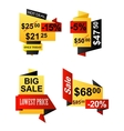 Set of origami business banners vector
