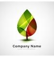 Leaf logo seasonal autumn concept vector