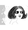 Girl in sun glasses vector