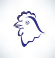 Chicken isolated symbol outlined sketch vector