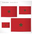 Morocco flag template vector