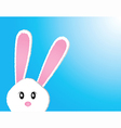 Cute bunny card easter day vector