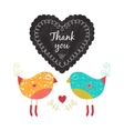 Thank you card with birds vector