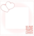 Valentine day card with two hearts vector