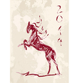 Chinese new year of the horse brush style file vector