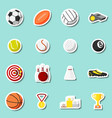 Sports stickers set vector
