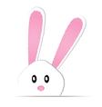 Cute bunny card easter day vector