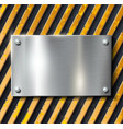 Metal warning background vector