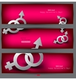 Abstract banners with male female symbol vector