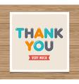 Thank you card vector