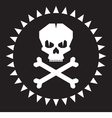 Skull - original graphic logo vector