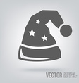 Icon santa claus hat isolated black on white vector