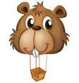 A big brown beaver balloon vector