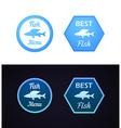 Grayling fish on label vector