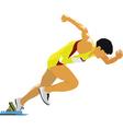 Runner silhouette vector
